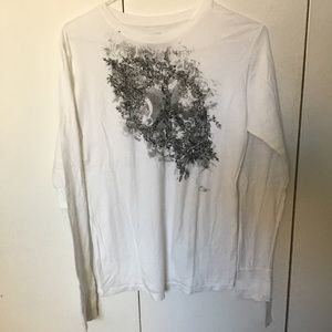 White Peace Graphic Tee•XL•NWT